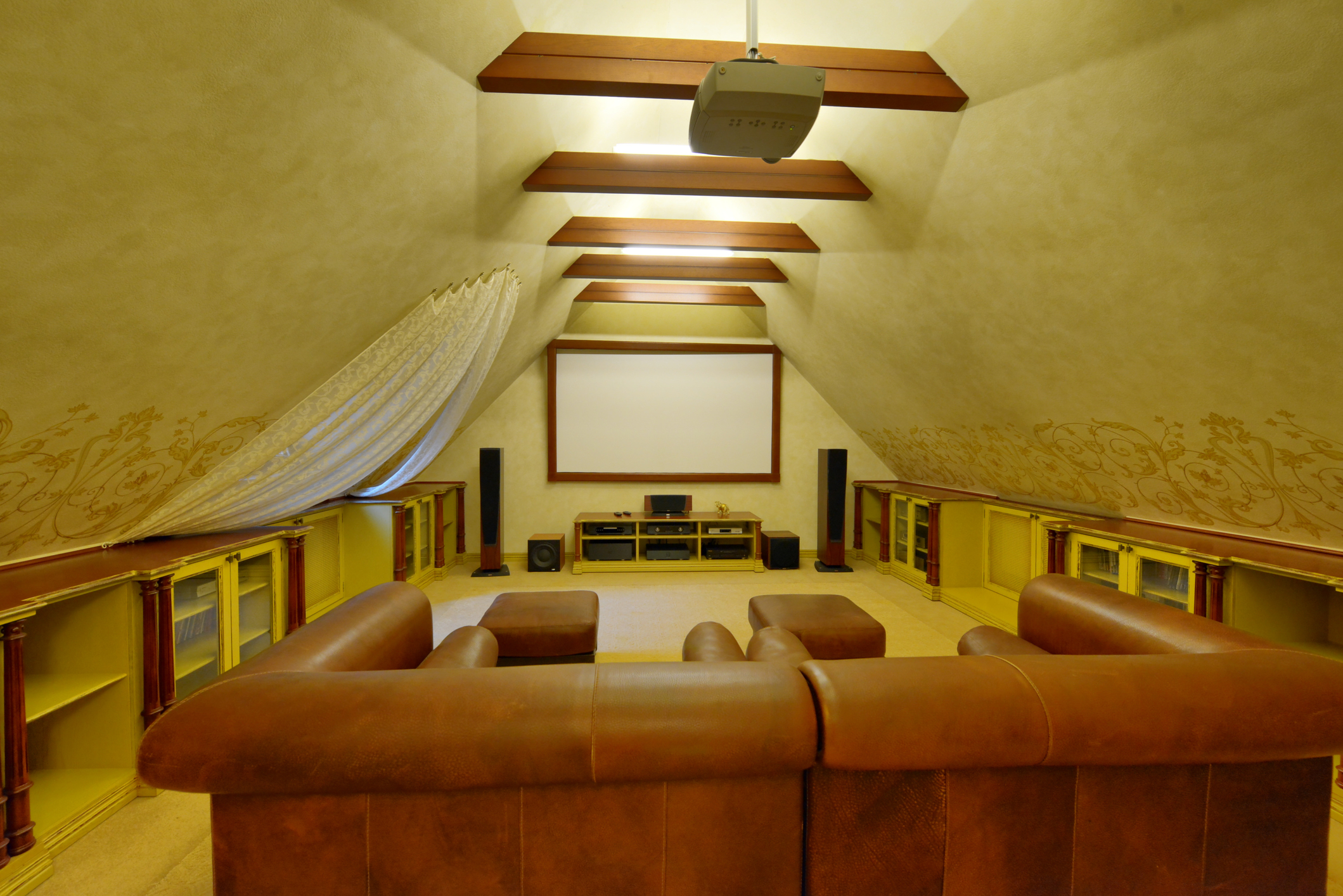 Home theater in luxury home