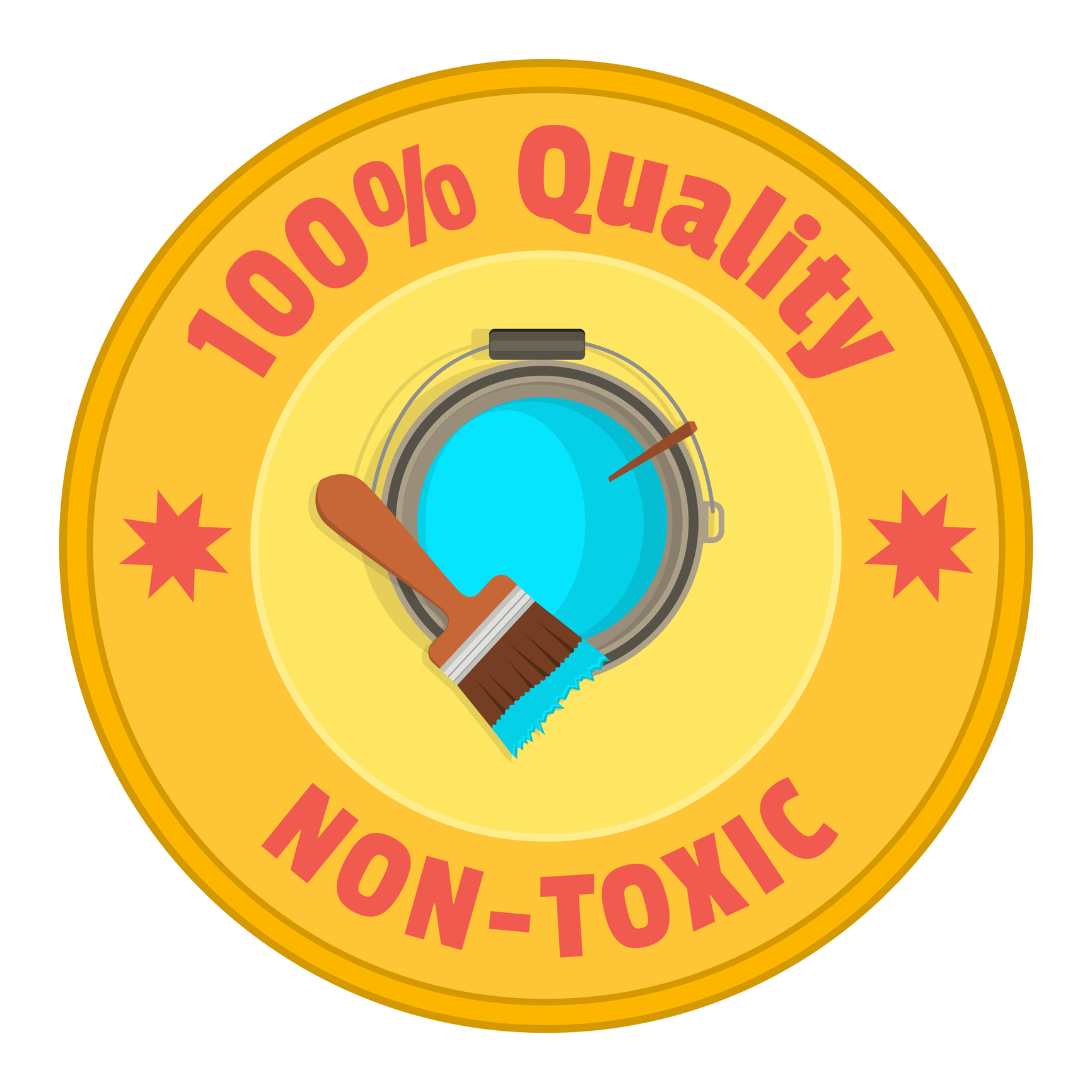 Sign of non-toxic paint
