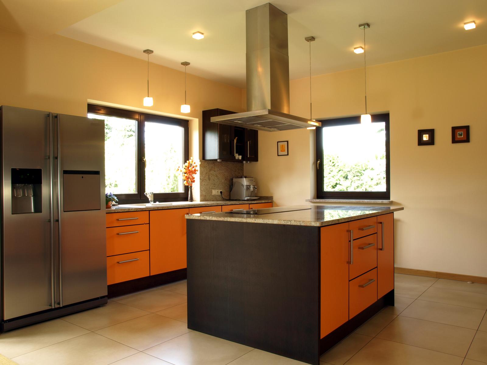Comfortable kitchen interior with a modern design