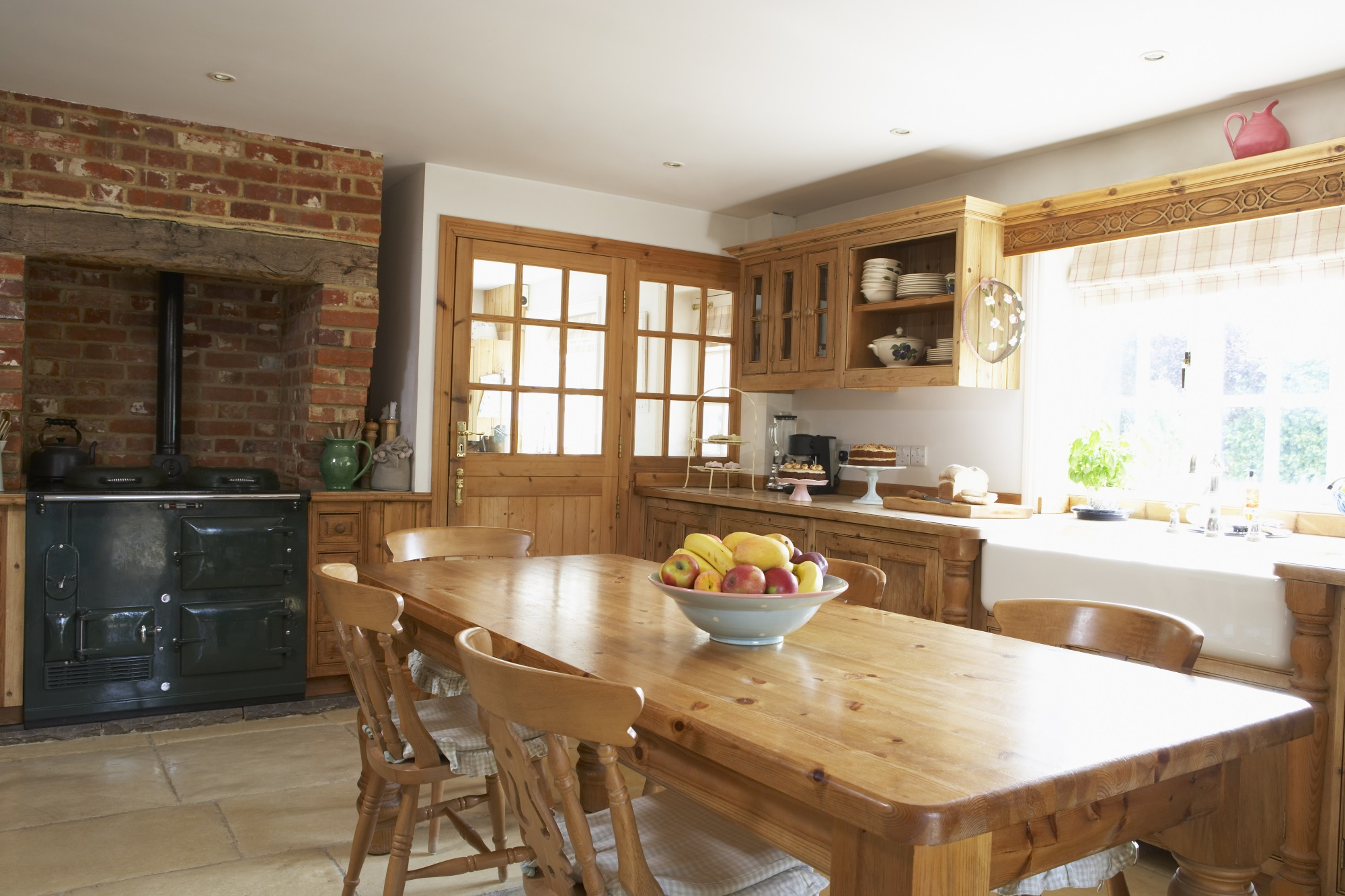 Interior Of Farmhouse Kitchen